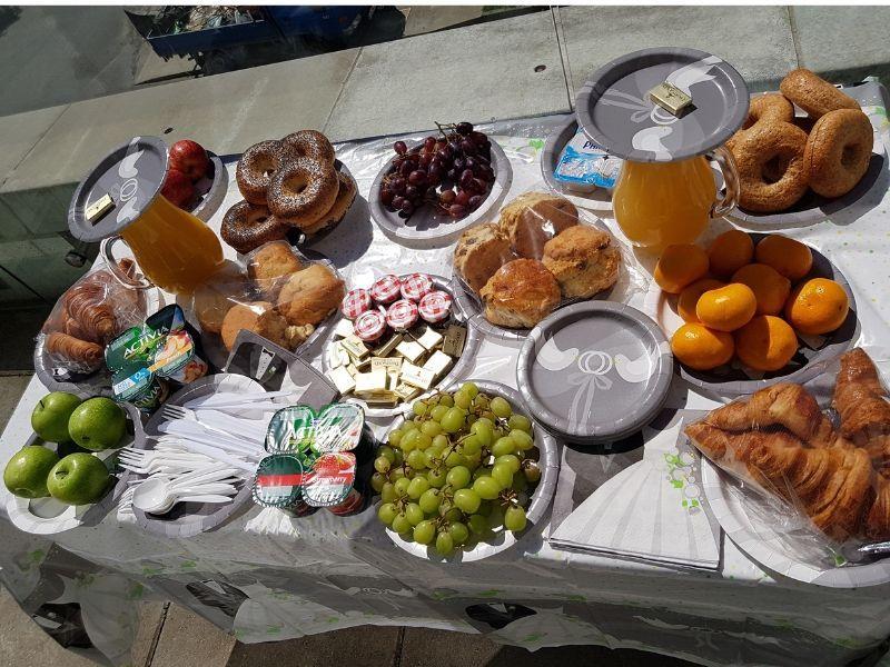 wedding morning breakfast