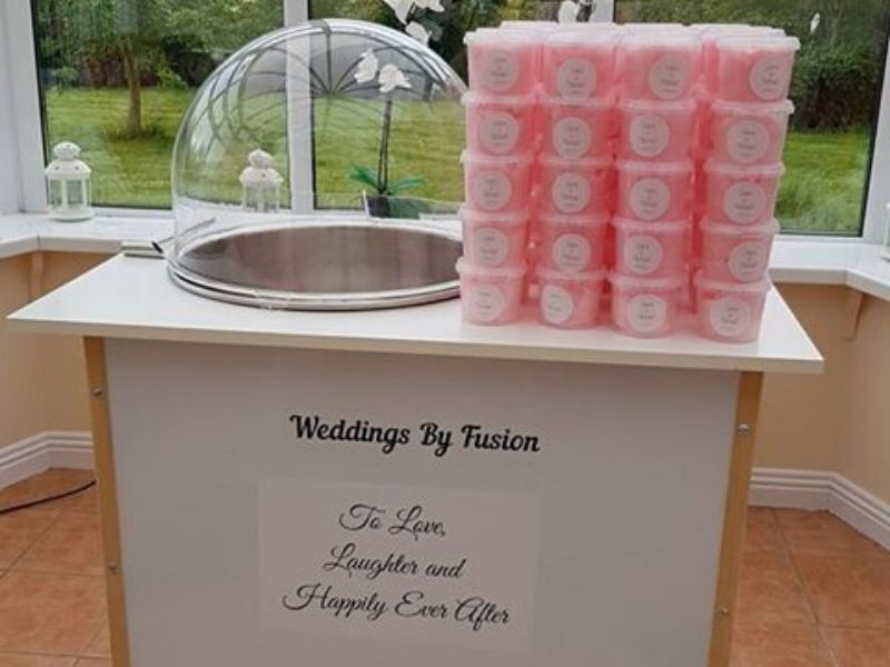 Candy Floss Machine Wedding