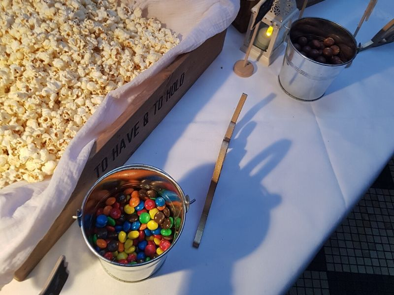 Wedding Popcorn Bar hire